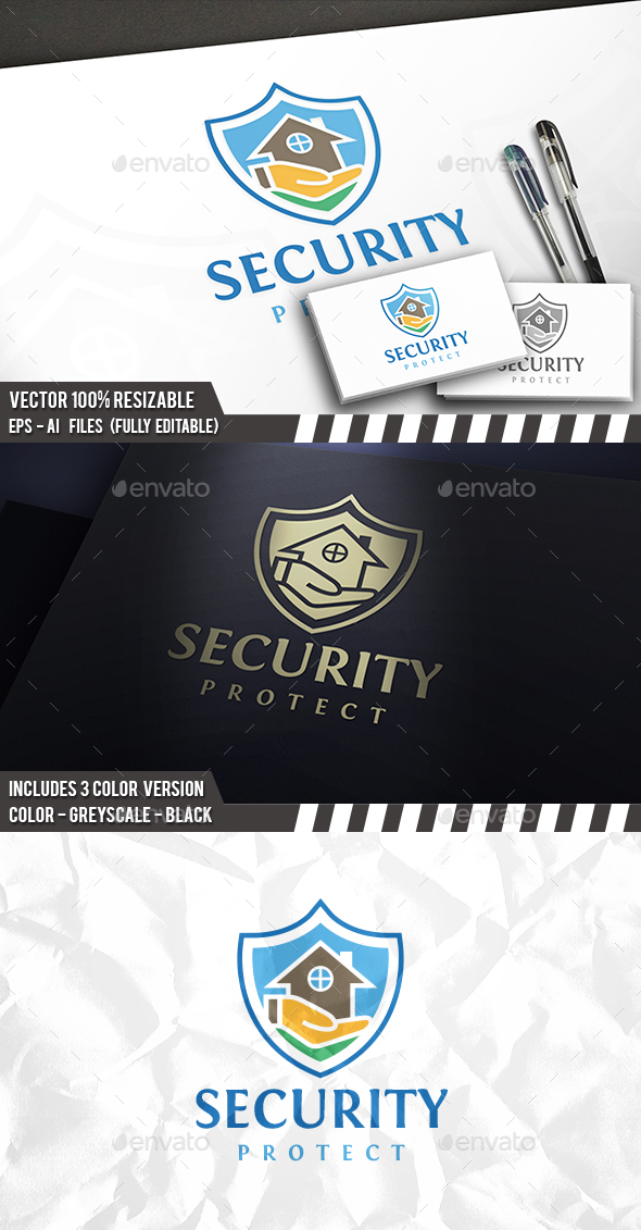 Secure Real Estate Logo - Buildings Logo Templates