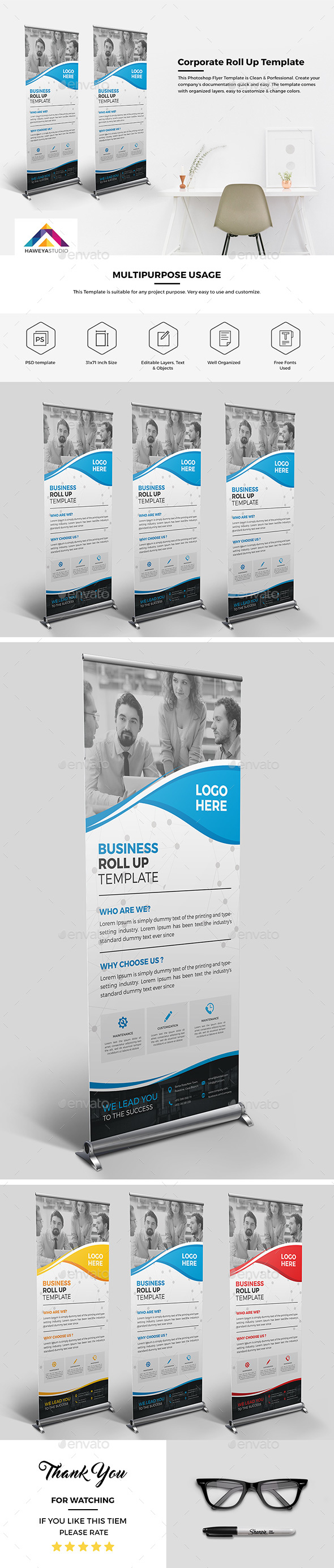 Haweya Corporate Roll Up 02 - Signage Print Templates