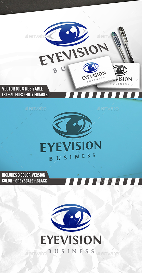 Eye Vision Logo - Objects Logo Templates