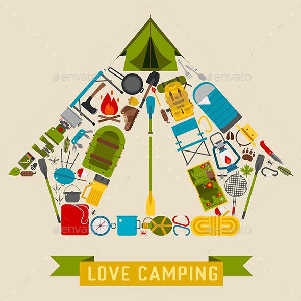 Love Camping Concept - Sports/Activity Conceptual