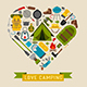 Love Camping Concept Heart - GraphicRiver Item for Sale