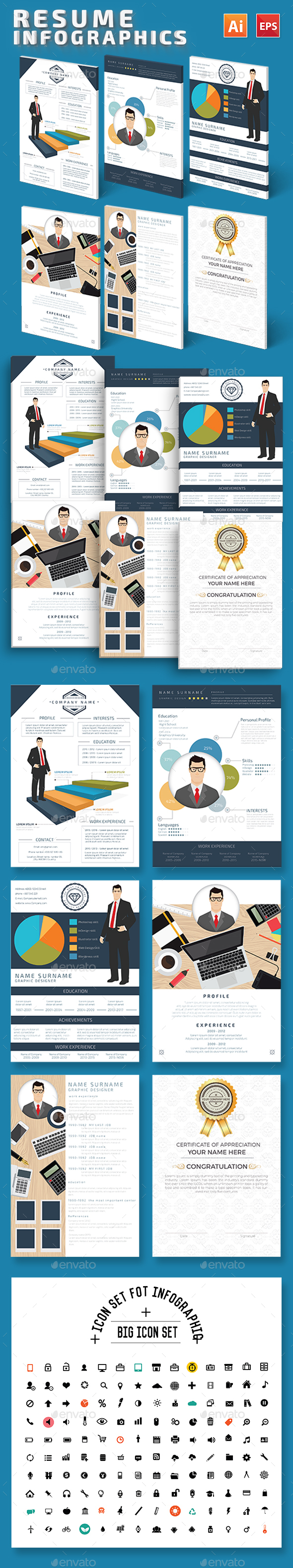 Resume Infographics Design