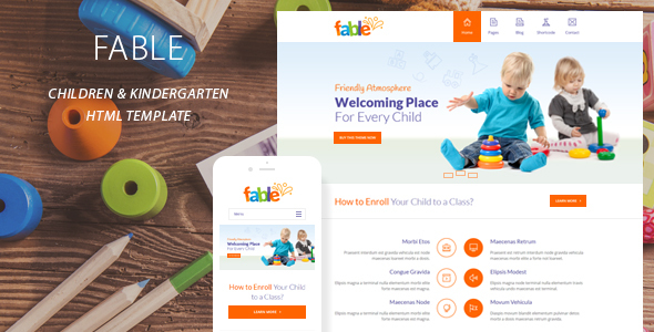 Fable - Children Kindergarten Template - Children Retail