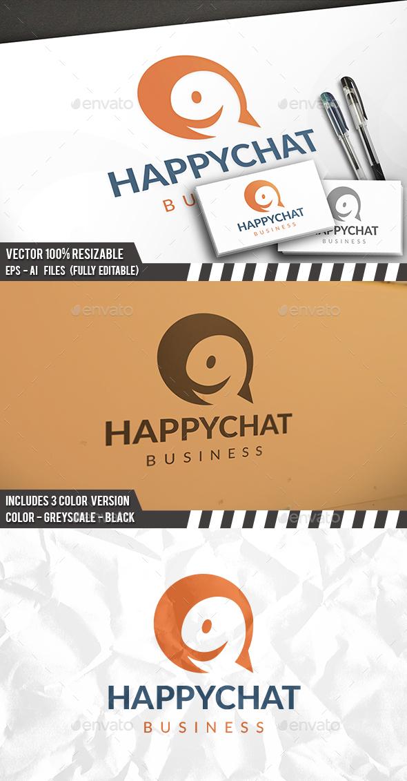 Happy Logo Template Logo - Humans Logo Templates
