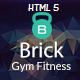 Brick - Gym Fitness html Template  Nulled