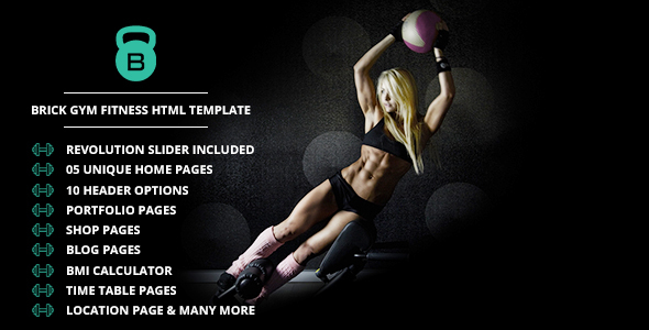Brick - Gym Fitness html Template  - Health & Beauty Retail