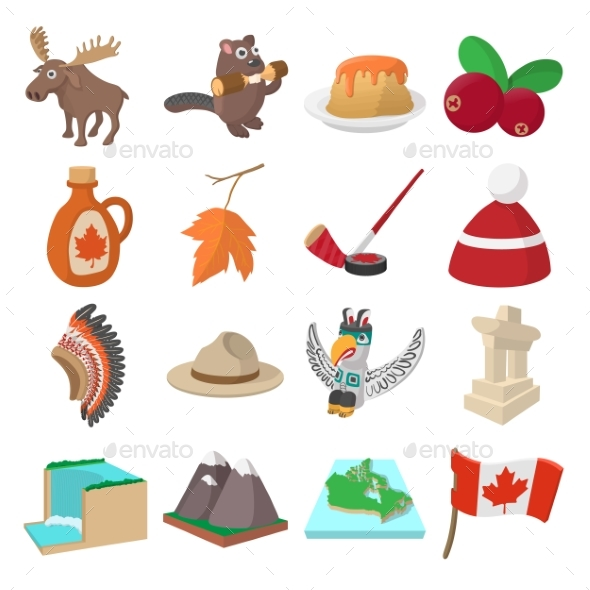 Canada Icons Cartoon - Miscellaneous Icons