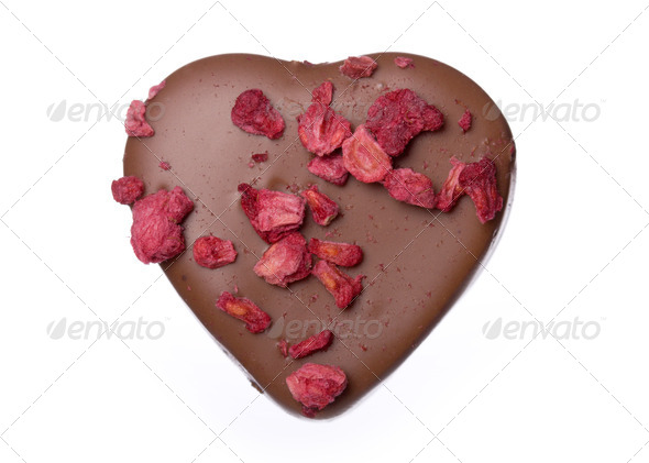 Heart shaped chocolate - Stock Photo - Images
