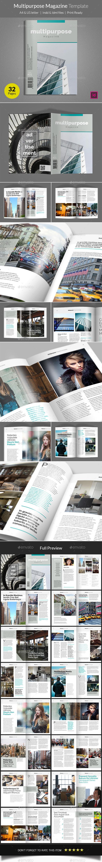 Multipurpose Magazine Template - Magazines Print Templates