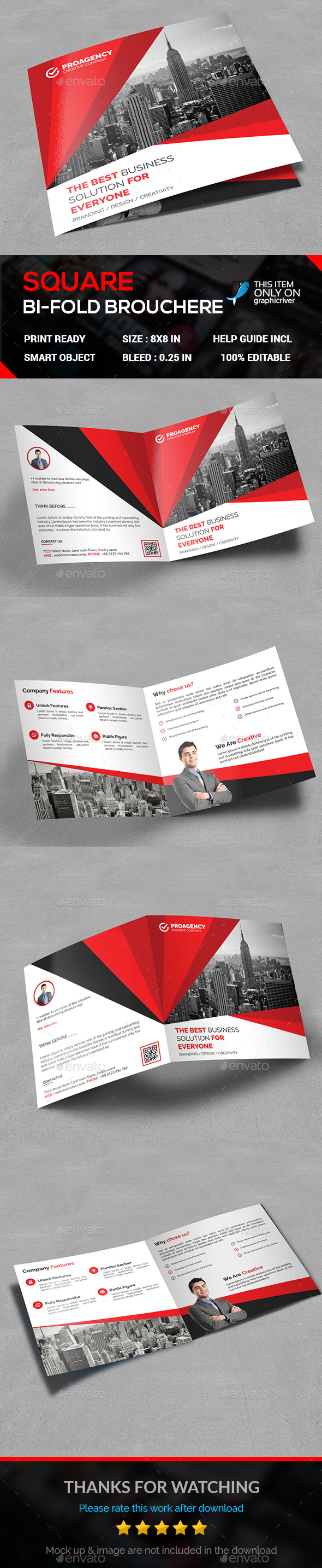 Square BI-Fold - Corporate Brochures
