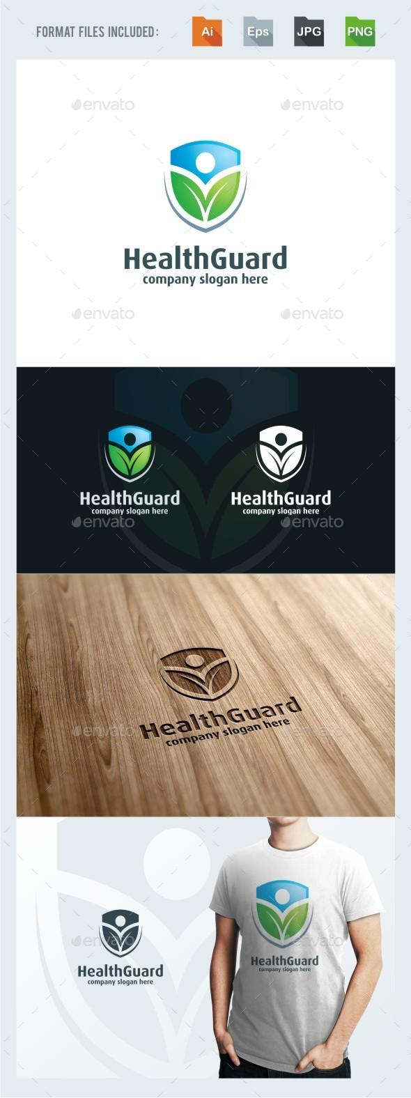 Health Guard Logo Template - Humans Logo Templates