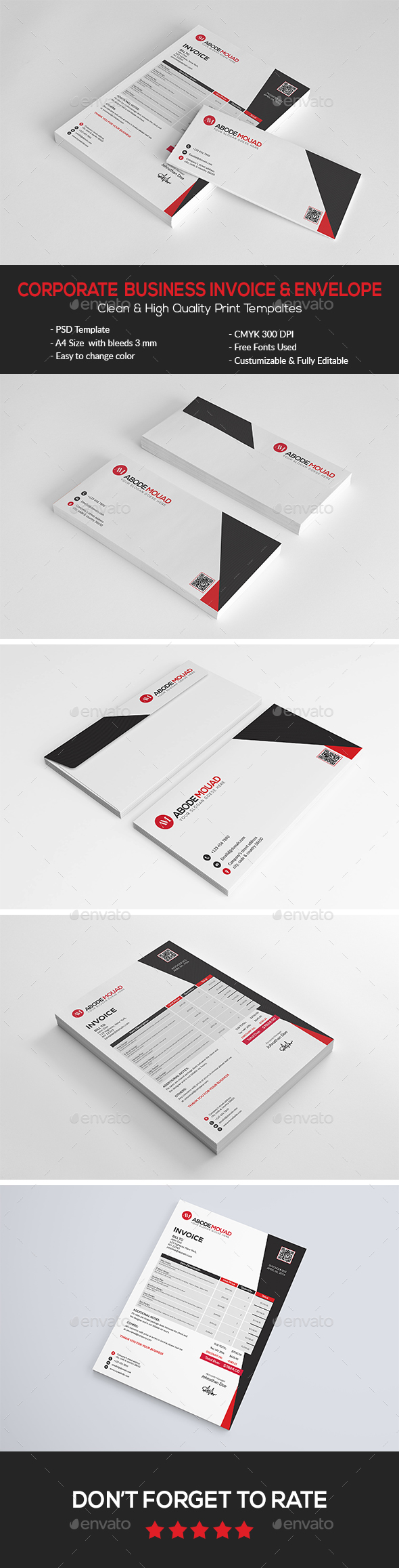 Corporate  Business Invoice & Envelope - Proposals & Invoices Stationery