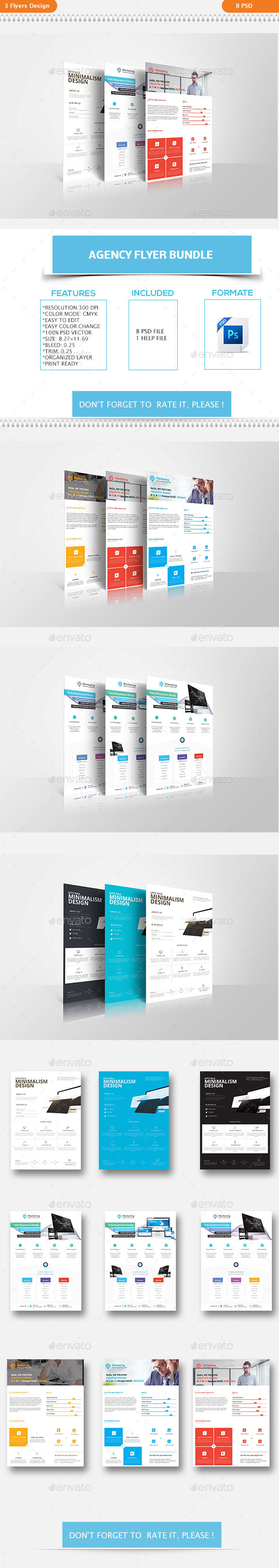 Corporate Agency Flyer Bundle - Flyers Print Templates