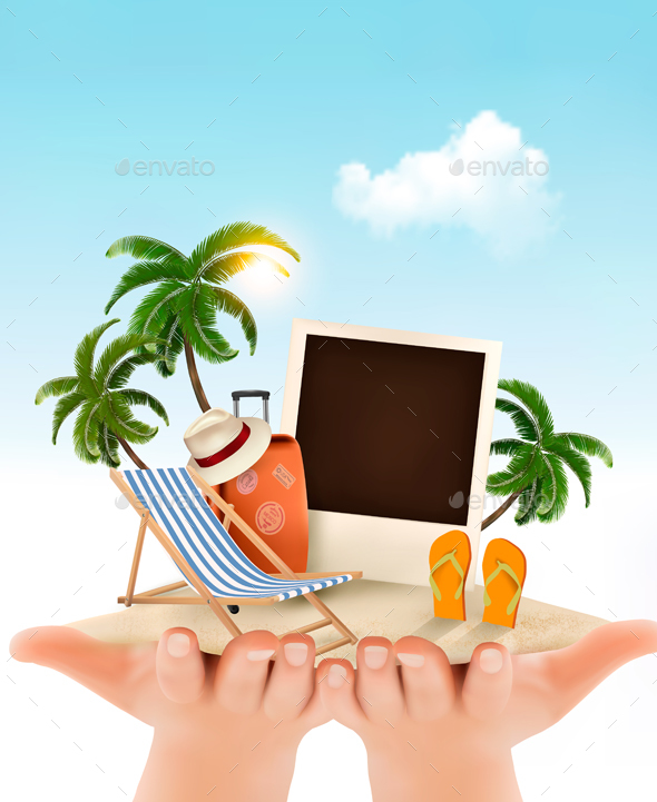 Summer Vacation Background - Travel Conceptual