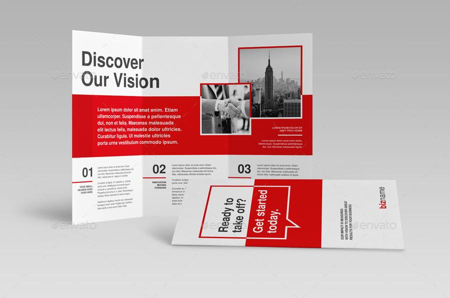 modern swiss trifold brochure by snowboy