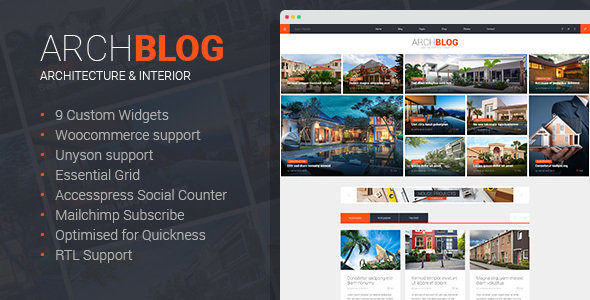 Archblog – Architect Portfolio WordPress Theme