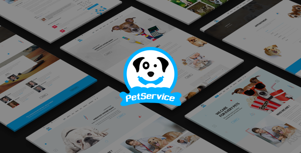Pet Service – A Pet Services PSD Template