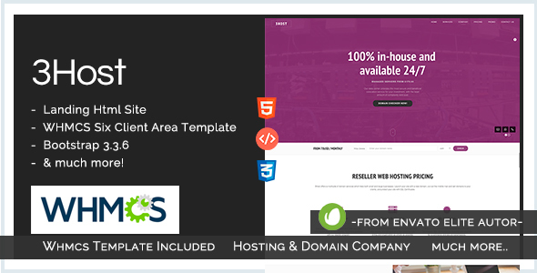 Hosting Domain Landing Page with WHMCS | 3Host - Hosting Technology