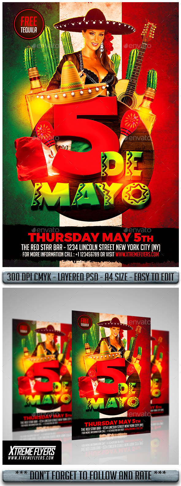 Cinco De Mayo Flyer - Events Flyers