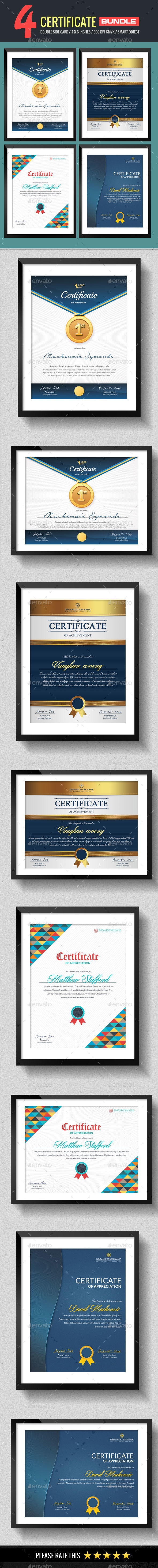4 In 1 Multipurpose Certificates Bundle - Certificates Stationery
