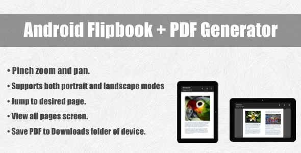 Android Flipbook + PDF Generator - CodeCanyon Item for Sale