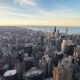 Aerial View Of City Downtown Twilight - VideoHive Item for Sale