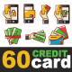 60 Credit Card Icon Pack - GraphicRiver Item for Sale