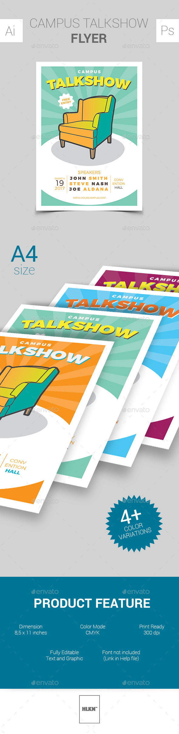 Campus Talkshow Flyer - Events Flyers