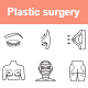 Plastic surgery outlines vector icons - GraphicRiver Item for Sale