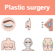 Plastic Surgery Color Vector Icons - GraphicRiver Item for Sale