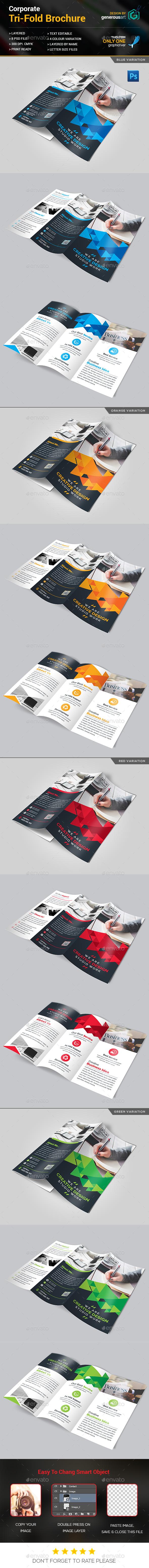 Tri-Fold Brochure Design - Corporate Brochures