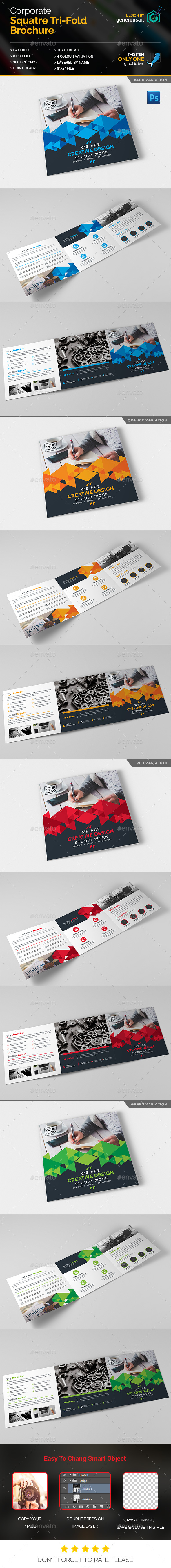 Creative Square Tri-Fold - Corporate Brochures