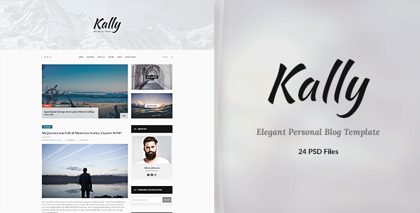 Kally - Personal Blog Template - Creative PSD Templates