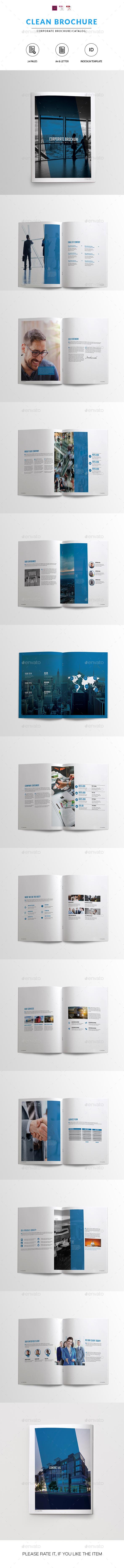 Clean Corporate Brochure/Catalog - Catalogs Brochures