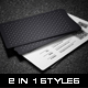 2 in 1 Black & White Business Card - 59 - GraphicRiver Item for Sale