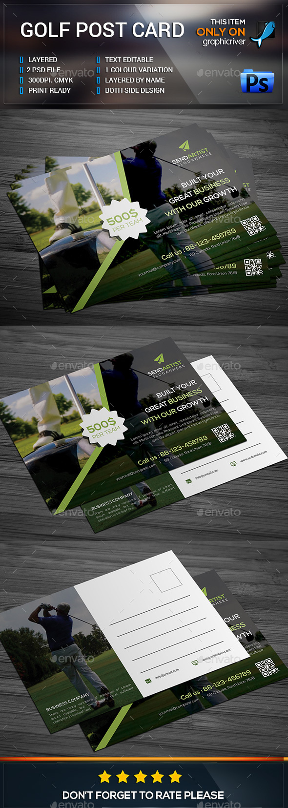 Corporate Post Card Template - Cards & Invites Print Templates