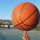 Basketball Spinning on Finger in Open Area - VideoHive Item for Sale
