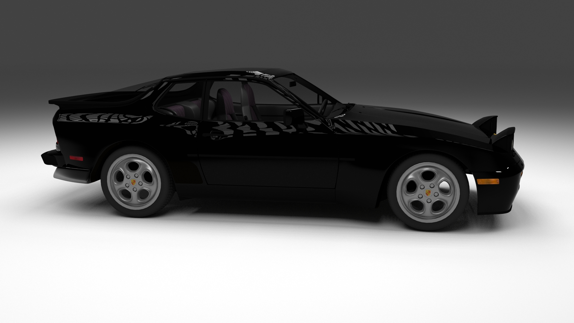 porsche 944 turbo with interior hdri by dragosburian 3docean