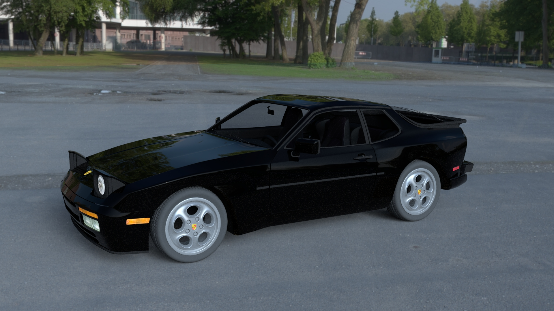 Perfect Porsche 944 Turbo With Interior HDRI Photo Gallery