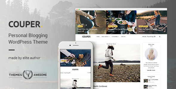 Responsive Personal Blog Theme – Couper
