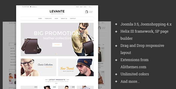 Levante - eCommerce Joomla Template - Fashion Retail