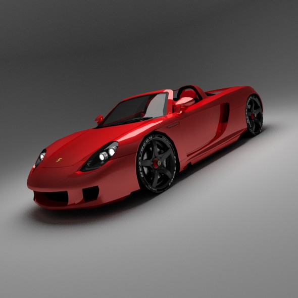 Carrera GT 3D Model - 3DOcean Item for Sale