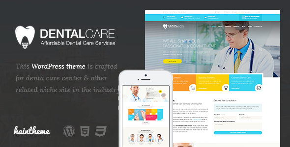 Dentalcare – Medical & Health WordPress Theme
