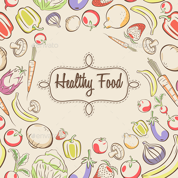 Healthy Food Poster - Food Objects