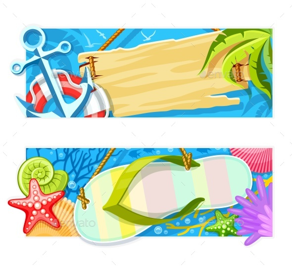 Summer Sea Beach Rest Banners - Seasons Nature