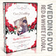 Red & White Floral Wedding DVD