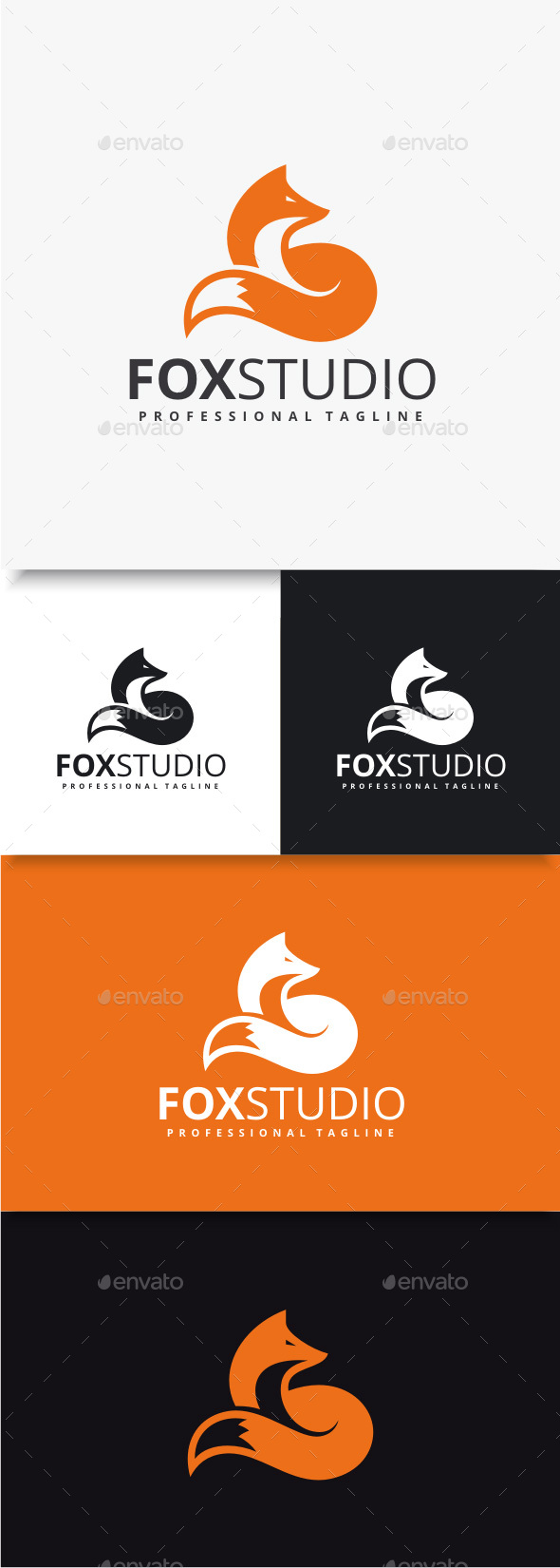 Fox Studio Logo - Animals Logo Templates