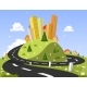 Abstract City on the Hill - GraphicRiver Item for Sale