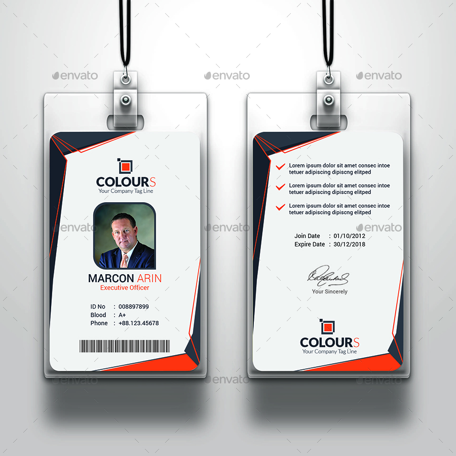 Office ID Card by sucharu_neal | GraphicRiver