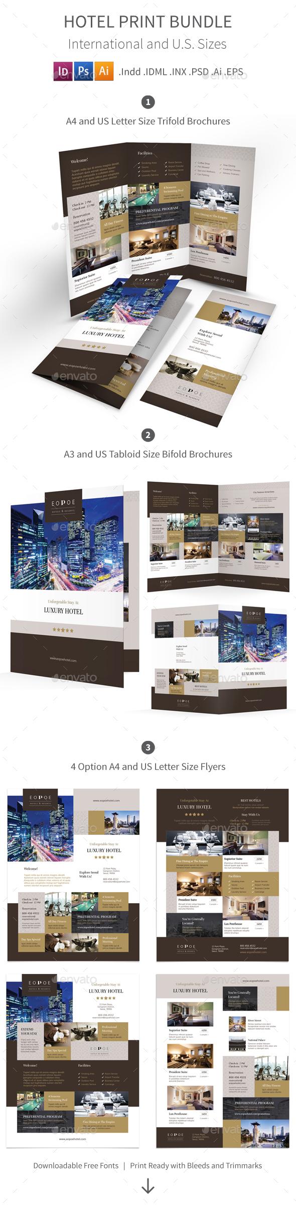 Hotel Print Bundle 5 - Corporate Brochures